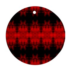 Red Black Gothic Pattern Ornament (round)  by Costasonlineshop