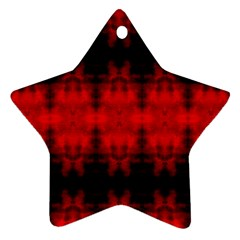 Red Black Gothic Pattern Ornament (star)