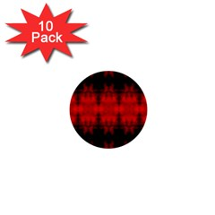 Red Black Gothic Pattern 1  Mini Buttons (10 Pack)  by Costasonlineshop