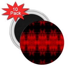 Red Black Gothic Pattern 2 25  Magnets (10 Pack)  by Costasonlineshop