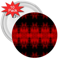 Red Black Gothic Pattern 3  Buttons (10 Pack)  by Costasonlineshop