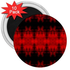 Red Black Gothic Pattern 3  Magnets (10 Pack)  by Costasonlineshop
