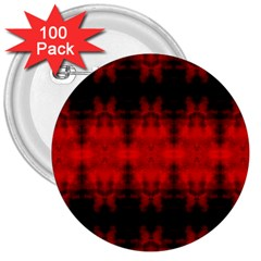Red Black Gothic Pattern 3  Buttons (100 Pack)  by Costasonlineshop