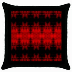 Red Black Gothic Pattern Throw Pillow Cases (black) by Costasonlineshop