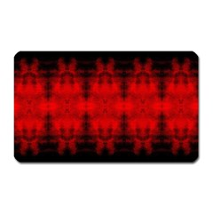 Red Black Gothic Pattern Magnet (rectangular) by Costasonlineshop