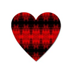 Red Black Gothic Pattern Heart Magnet by Costasonlineshop