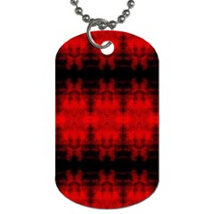 Red Black Gothic Pattern Dog Tag (one Side) by Costasonlineshop