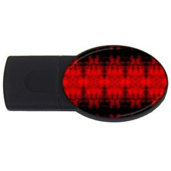 Red Black Gothic Pattern Usb Flash Drive Oval (2 Gb)  by Costasonlineshop