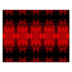 Red Black Gothic Pattern Rectangular Jigsaw Puzzl by Costasonlineshop