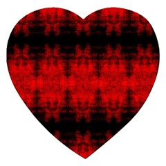 Red Black Gothic Pattern Jigsaw Puzzle (heart) by Costasonlineshop