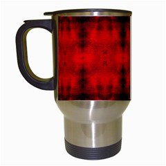 Red Black Gothic Pattern Travel Mugs (white) by Costasonlineshop