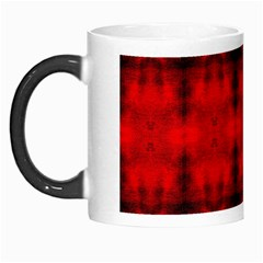 Red Black Gothic Pattern Morph Mugs by Costasonlineshop