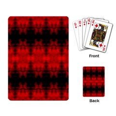 Red Black Gothic Pattern Playing Card by Costasonlineshop