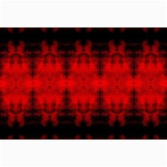 Red Black Gothic Pattern Collage 12  X 18  by Costasonlineshop