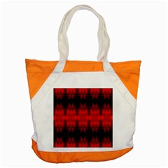 Red Black Gothic Pattern Accent Tote Bag  by Costasonlineshop