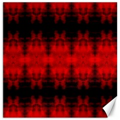 Red Black Gothic Pattern Canvas 12  X 12   by Costasonlineshop