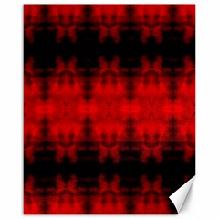 Red Black Gothic Pattern Canvas 16  X 20   by Costasonlineshop