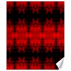 Red Black Gothic Pattern Canvas 20  X 24   by Costasonlineshop