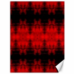 Red Black Gothic Pattern Canvas 36  X 48   by Costasonlineshop