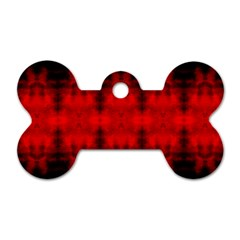 Red Black Gothic Pattern Dog Tag Bone (two Sides) by Costasonlineshop