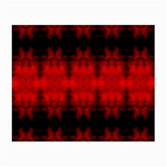 Red Black Gothic Pattern Small Glasses Cloth (2 Side) by Costasonlineshop