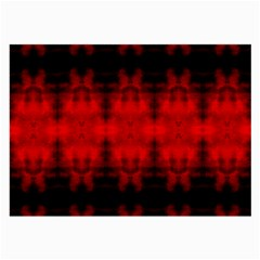 Red Black Gothic Pattern Large Glasses Cloth by Costasonlineshop