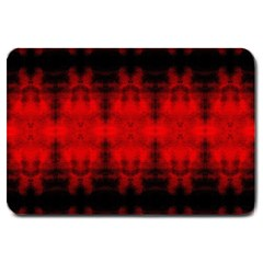 Red Black Gothic Pattern Large Doormat  by Costasonlineshop