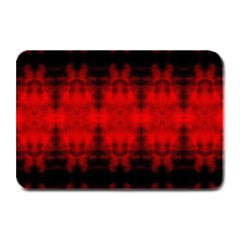 Red Black Gothic Pattern Plate Mats by Costasonlineshop