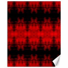 Red Black Gothic Pattern Canvas 11  X 14   by Costasonlineshop