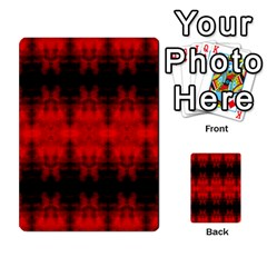 Red Black Gothic Pattern Multi Purpose Cards (rectangle)  by Costasonlineshop