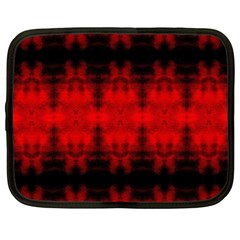 Red Black Gothic Pattern Netbook Case (large) by Costasonlineshop
