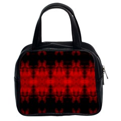 Red Black Gothic Pattern Classic Handbags (2 Sides) by Costasonlineshop