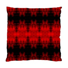 Red Black Gothic Pattern Standard Cushion Case (one Side)  by Costasonlineshop