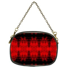 Red Black Gothic Pattern Chain Purses (Two Sides)  by Costasonlineshop
