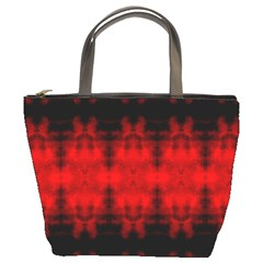 Red Black Gothic Pattern Bucket Bags by Costasonlineshop