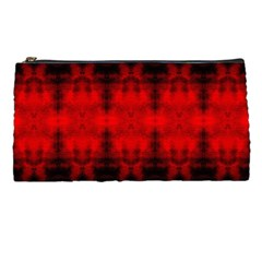 Red Black Gothic Pattern Pencil Cases by Costasonlineshop