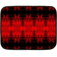 Red Black Gothic Pattern Double Sided Fleece Blanket (mini)