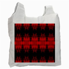 Red Black Gothic Pattern Recycle Bag (two Side)  by Costasonlineshop