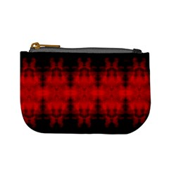 Red Black Gothic Pattern Mini Coin Purses by Costasonlineshop