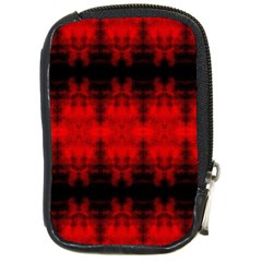 Red Black Gothic Pattern Compact Camera Cases by Costasonlineshop