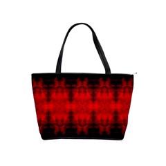 Red Black Gothic Pattern Shoulder Handbags by Costasonlineshop