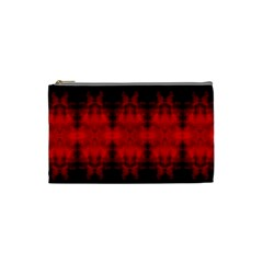 Red Black Gothic Pattern Cosmetic Bag (small)  by Costasonlineshop
