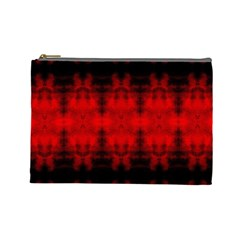Red Black Gothic Pattern Cosmetic Bag (large)  by Costasonlineshop