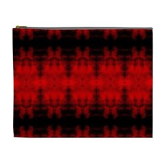 Red Black Gothic Pattern Cosmetic Bag (xl) by Costasonlineshop