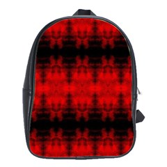 Red Black Gothic Pattern School Bags(Large)  by Costasonlineshop