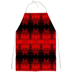 Red Black Gothic Pattern Full Print Aprons by Costasonlineshop