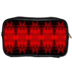 Red Black Gothic Pattern Toiletries Bags by Costasonlineshop