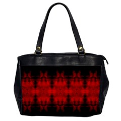 Red Black Gothic Pattern Office Handbags