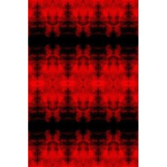 Red Black Gothic Pattern 5.5  x 8.5  Notebooks by Costasonlineshop