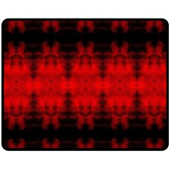 Red Black Gothic Pattern Fleece Blanket (medium)  by Costasonlineshop